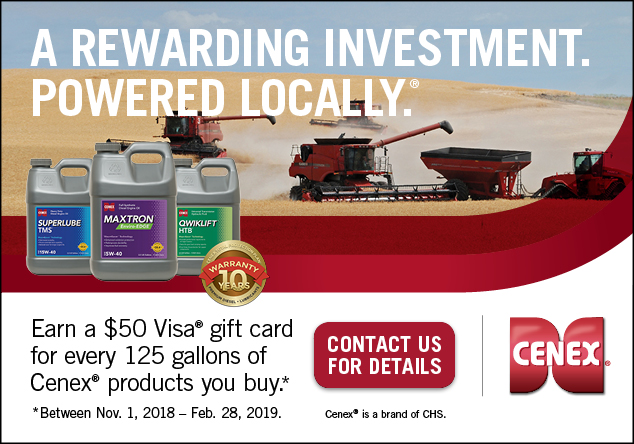 contact us to find out how to win a Visa gift card when you buy Cenex products